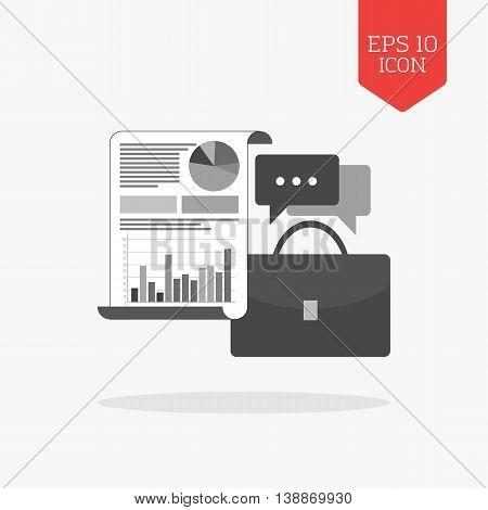 Business Adviser Concept Icon. Flat Design Gray Color Symbol. Modern Ui Web Navigation, Sign.