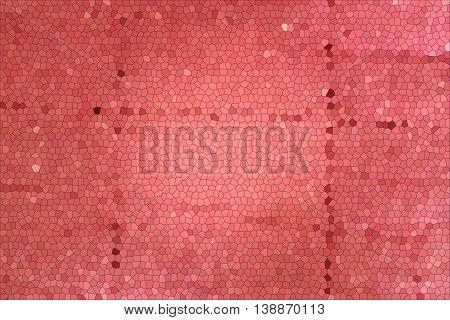 Beautiful red mosaic. The mosaic background. Abstraction.