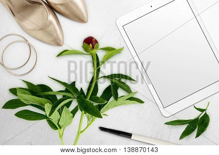 Styled Scene With Tablet