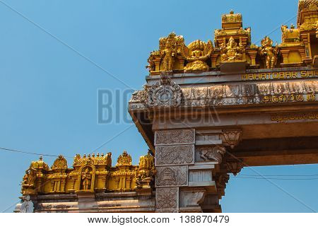 The Collars On The Road. Murudeshwar.karnataka, India