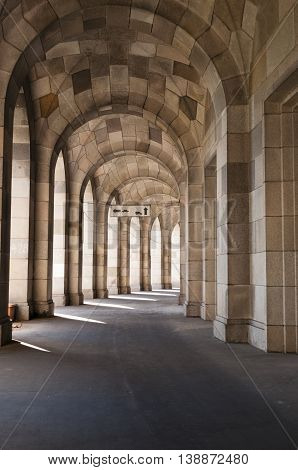 Nurnberg Bavaria / Germany - July 18th 2014 : Congress Hall corridor section