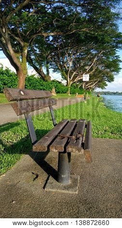 Kranji reservoir in Singapore during hot afternoon