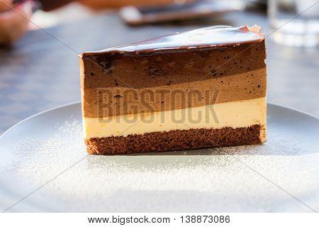chocolate cake with sweet icing