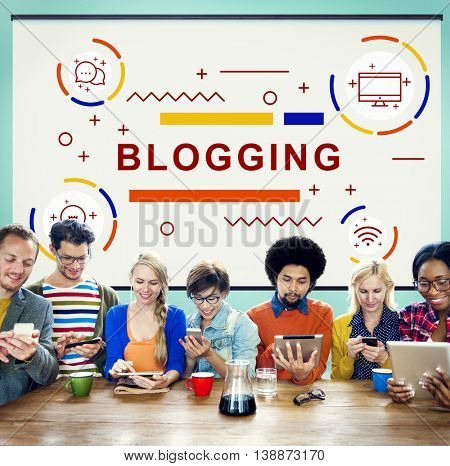 Blogging Blog Homepage Internet Concept