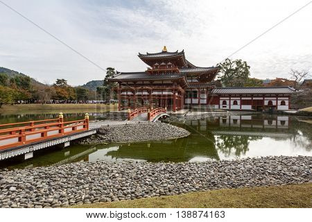 Byodo-in Temple at Uji Town Kyoto, Japan