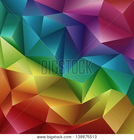 Abstract Geometric Colorful Cut Paper Vector Background