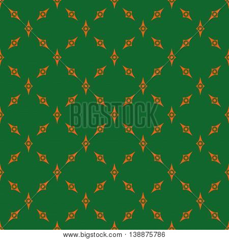 Rhombus chaotic seamless pattern. Fashion graphic background design. Modern stylish abstract colorful texture. Template for prints textiles wrapping wallpaper website etc Stock VECTOR illustration