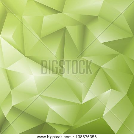 Abstract Geometric Cut Paper Green Vector Background