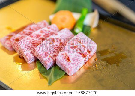 Freshness Japanese wagyu short rib matsusaka beef for BBQ yakiniku