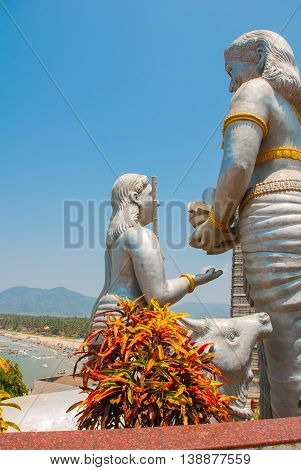 Detail Of The Sculpture. Murudeshwar. Temple In Karnataka, India