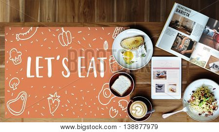 Foodie Gourmet Cuisine Eat Meals Concept