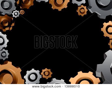 Gears Background Border