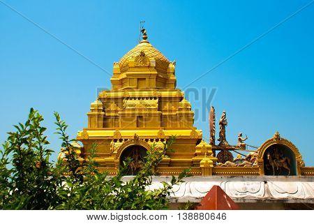 Fragment Of The Architectural Ensemble. Murudeshwar. Temple In Karnataka, India