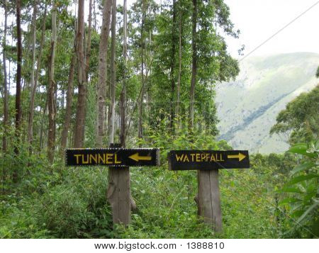 Tunnel Or Waterfall Signs