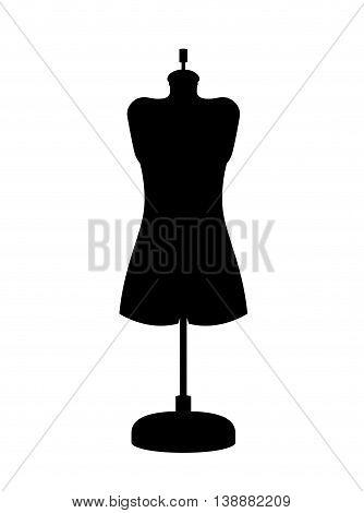 female mannequin isolated icon design, vector illustration  graphic