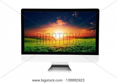 5k monitor isolated on white