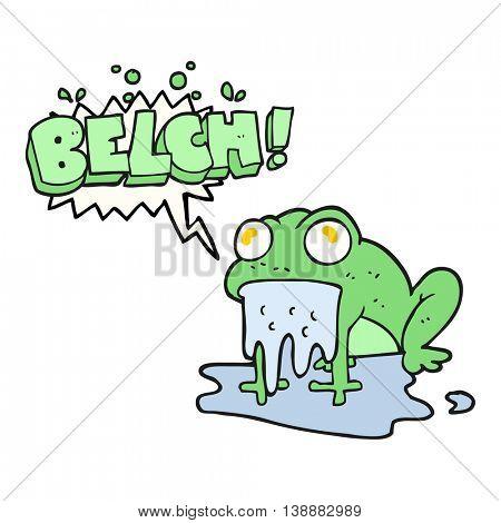 freehand drawn speech bubble cartoon gross little frog