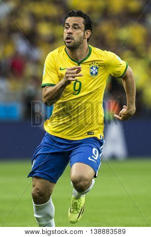 Belo Horizonte Brazil - july 08 2014: FRED of Brazil during the FIFA 2014 World Cup. Brazil is facing Germany in the semi-finals at Mineirao Stadium