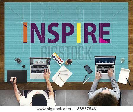 Inspire Aspiration Confidence Dreams Goal Vision Concept