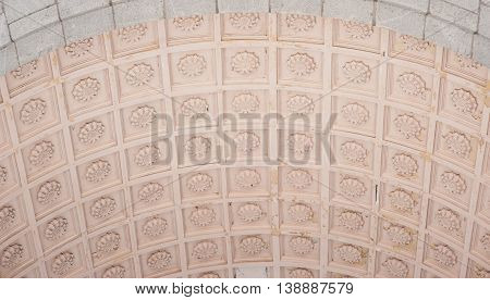 ceiling texture with ornament background in church