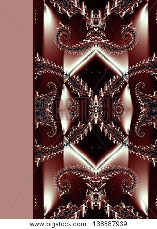 Design of beautiful spiral ornamental notebook cover red