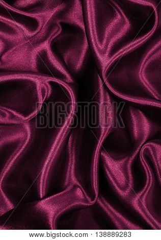 Smooth Elegant Burgundy Silk Or Satin Texture As Background