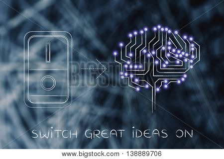 Artificial Brain With Switch Turned On