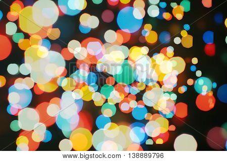 Christmas wallpaper decorations concept.xmas holiday festival backdrop:sparkle circle lit celebrations display.
