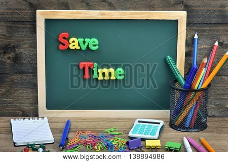 Save time word on school board