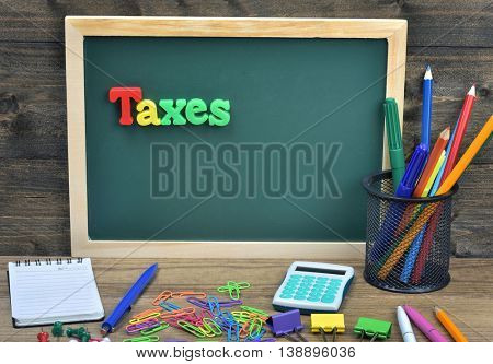 Taxes on school board