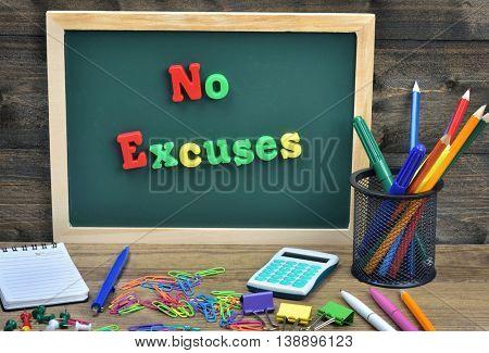 No excuses word on school board