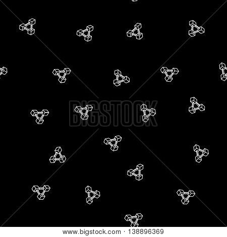 Pattern geometric seamless simple monochrome minimalistic pattern of impossible shapes, rectangles