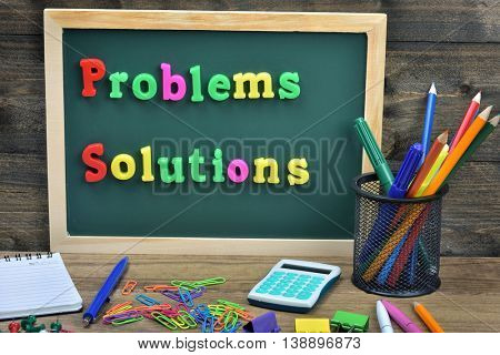 Problems and solutions text on school board