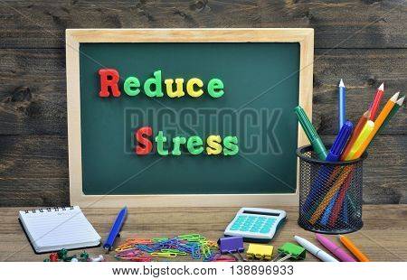 Reduce Stress word on school board