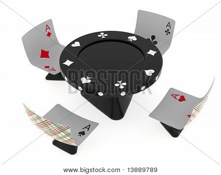 Conventionalized Table And Chairs For Casino