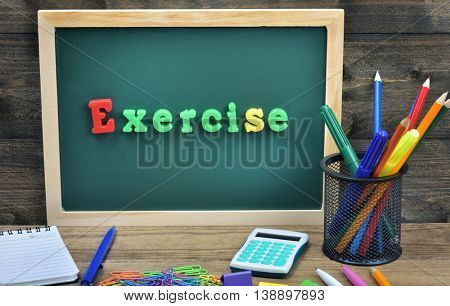 Exercise word on school board