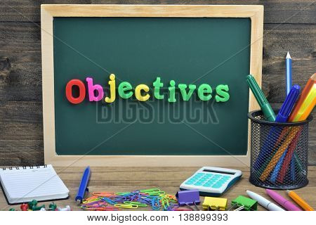 Objectives word on school board