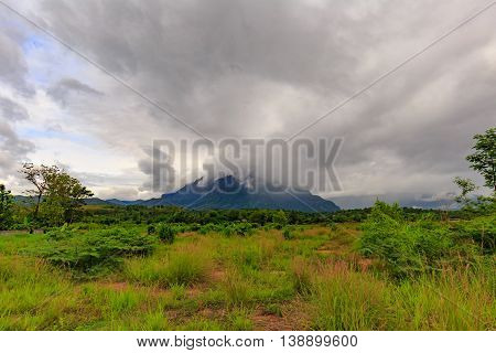 Mountains. Cloudy mountains in northern Thailand. Nature composition