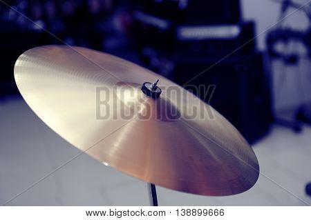 Cymbal Closeup With Drum Set