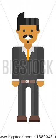 Latin-American man vector illustration.