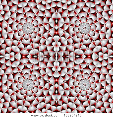 Abstract seamless pattern with geometric ornament. You can use it for invitations notebook covers phone cases postcards cards ceramics carpets and so on. Artwork for creative design art and entertainment. red and white
