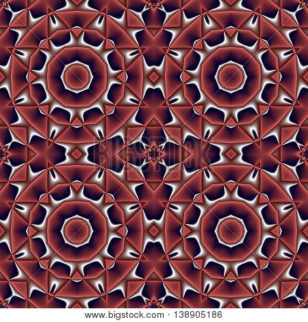 Abstract seamless pattern with circle and geometric ornament. You can use it for invitations notebook covers phone cases postcards cards ceramics carpets and so on. Artwork for creative design art and entertainment. red