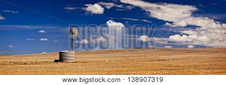 Windmill in field in South Australia, Australia