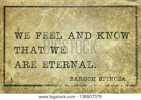 We Eternal Spinosa