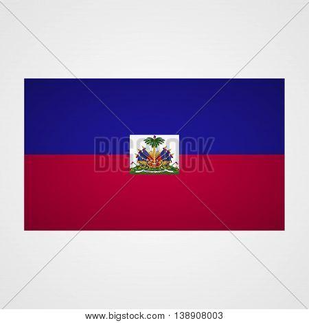 Haiti flag on a gray background. Vector illustration