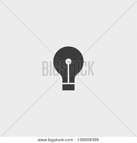 Light bulb icon in a flat design in black color. Vector illustration eps10