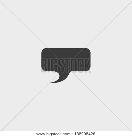 Speech bubble icon in a flat design in black color. Vector illustration eps10