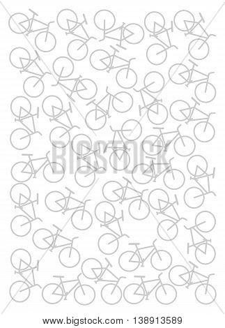 Background with bikes. - vector image. Sport background.