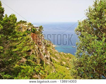 Majorca Northwest Coast In The Tramuntana Mountains