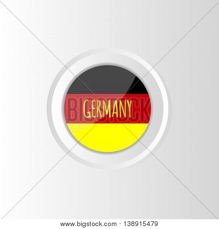 Vector circle colorful bright flag of Germany on gradient background